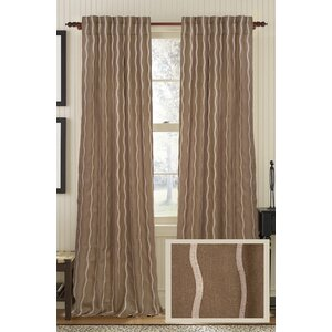 Infinite Striped Semi-Sheer Rod Pocket Single Curtain Panel