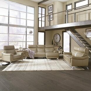 Buying Zurcher Contemporary Upholstered 3 Piece Leather Living Room Set by Orren Ellis Reviews (2019) & Buyer's Guide