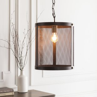Gracie Oaks Brody Transitional 1-Light Drum Pendant