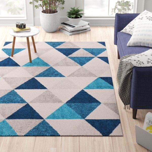 Zipcode Design Jemison Geometric Blue Gray Rug Reviews Wayfair