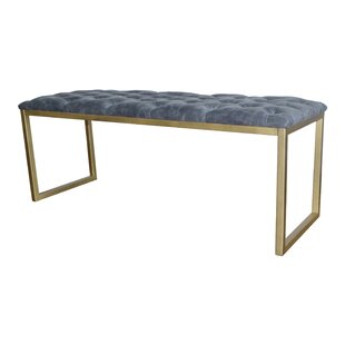 Kujawski Faux Leather Bench by Mercer41