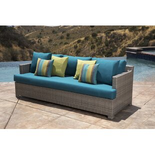Koerner Patio Sofa with Sunbrella Cushions by Red Barrel Studio