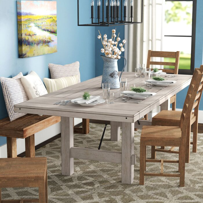 Marvelous Beachem Extendable Solid Wood Dining Table Squirreltailoven Fun Painted Chair Ideas Images Squirreltailovenorg