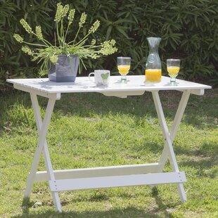 Dahlberg Folding Wooden Dining Table by Lynton Garden