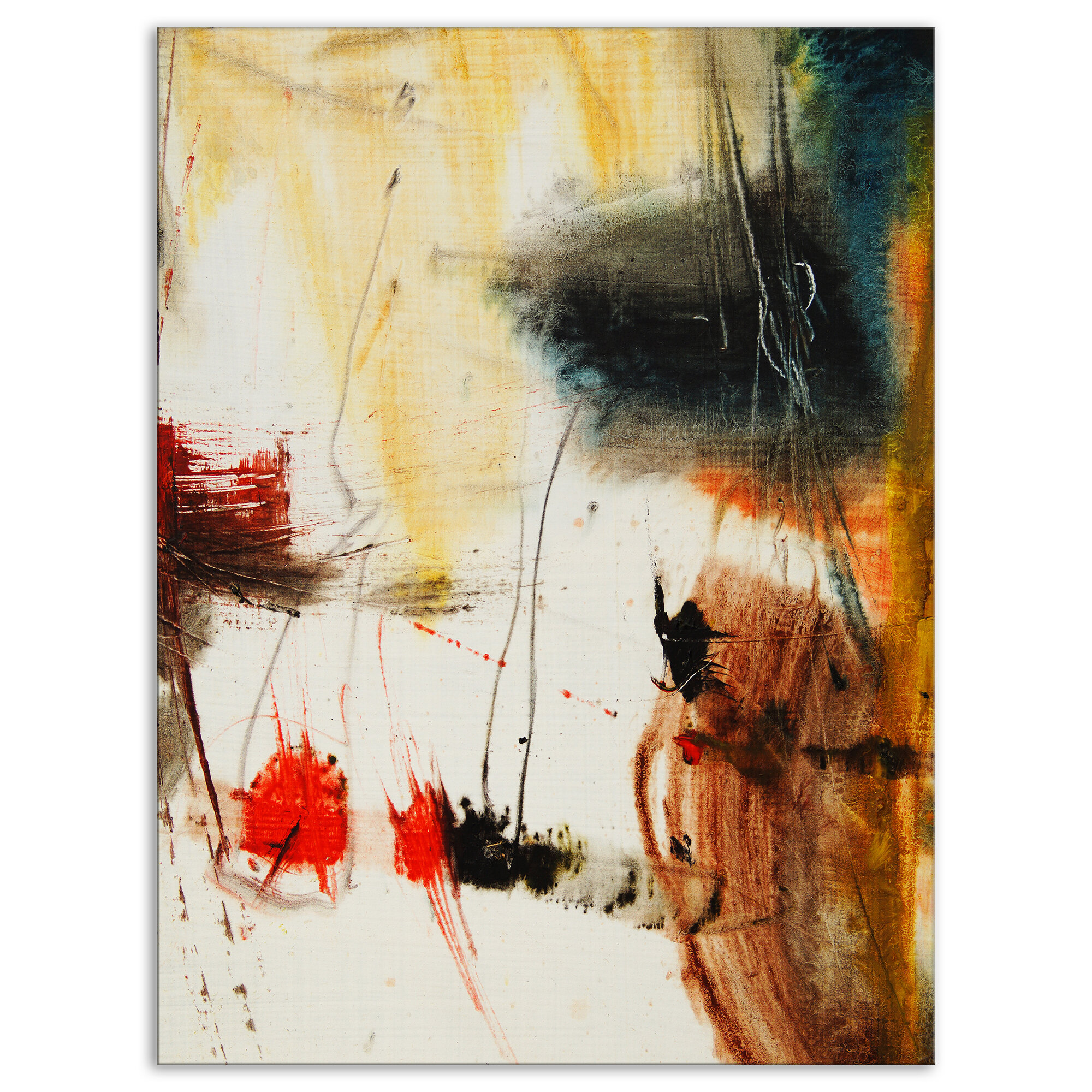 East Urban Home Contemporary Brown Multicolor Painting Oil Painting Print On Wrapped Canvas Wayfair