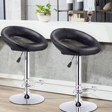 Segarra Swivel Adjustable Height Stool (Set of 2) by Brayden Studio®