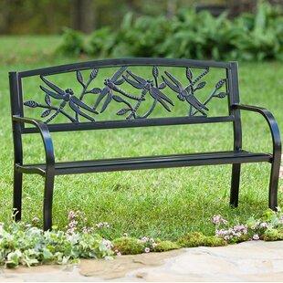 Dragonfly Metal Garden Bench