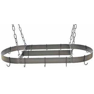 Oval Hanging Pot Rack with Centerbar