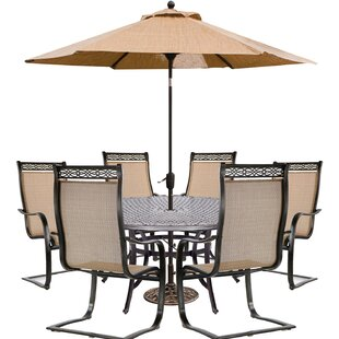 Buariki 7 Piece Dining Set with Umbrella