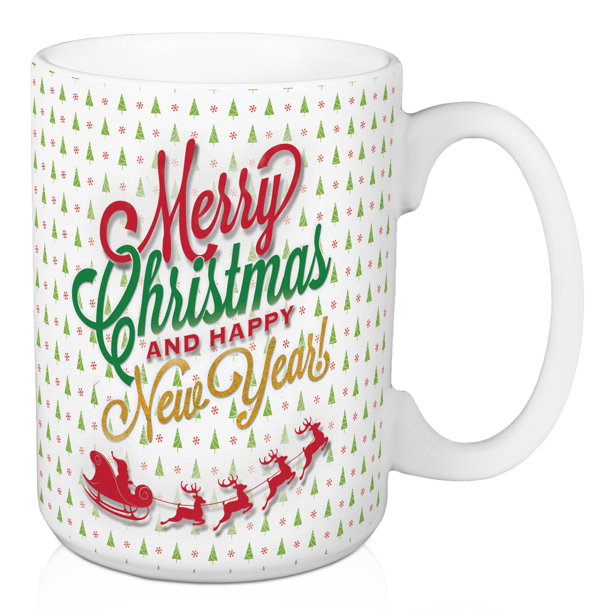 The Holiday Aisle Merry Christmas And Happy New Year Coffee Mug Wayfair