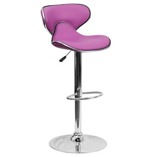Marlon Adjustable Height Swivel Bar Stool Wade Logan
