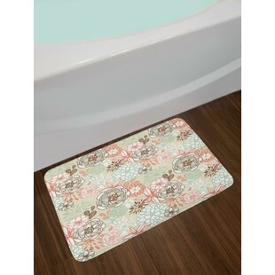 Vintage Romantic Floral Bath Rug by East Urban Home 2019 Coupon