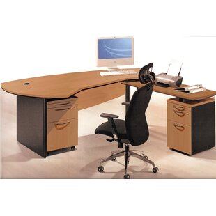 Executive Management 3 Piece L-Shaped Desk Office Suite by OfisELITE Savings
