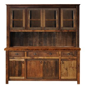 Barnwood Sideboard with Hickory Legs by Fireside Lodge