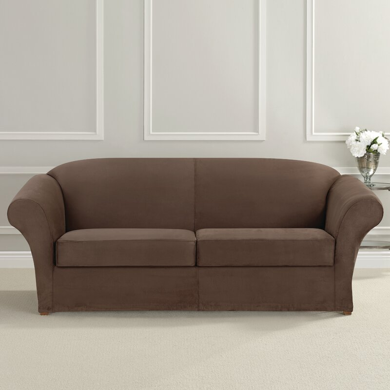 Sure Fit Ultimate Heavyweight Stretch Suede Box Cushion Loveseat