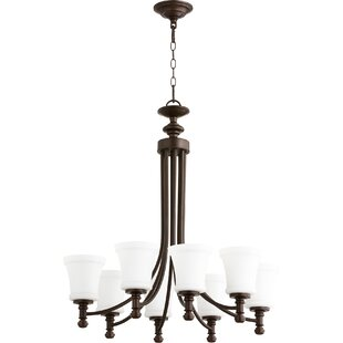 Herman 8-Light Shaded Chandelier by Charlton Home