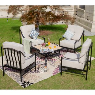 Richard 5 Piece Multiple Chairs Seating Group with Cushions