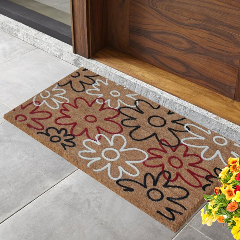 First Impression Qiana Flowers Entry Doormat Joss Main