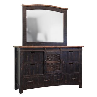 Coralie 6 Combo Dresser with Mirror