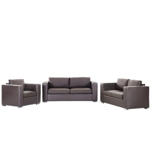 Helsinki 3 Piece Leather Living Room Set