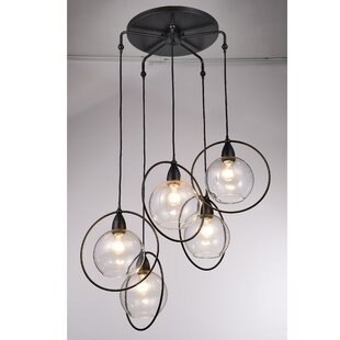 Mouton 5-Light Cluster Pendant by Wrought Studio