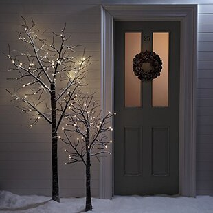 120 Warm White Twig Lighted Trees & Branches Image
