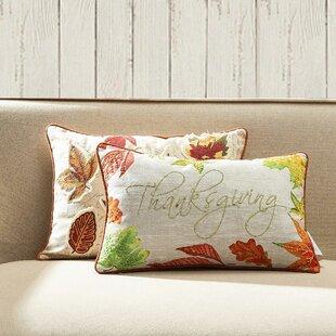 Lashley Thanksgiving Lumbar Pillow