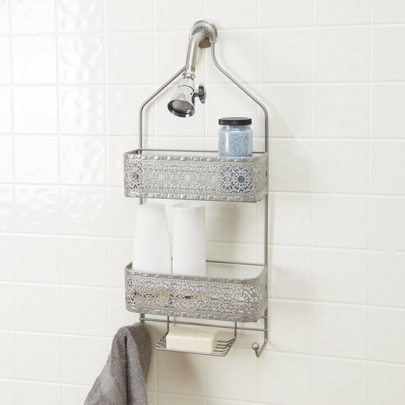 Mistana Carita 2-Shelf Shower Caddy with Soap Holder & Reviews | Wayfair