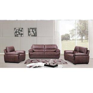 Loon Peak Rollins 3 Piece Living Room Set (Set of 3)