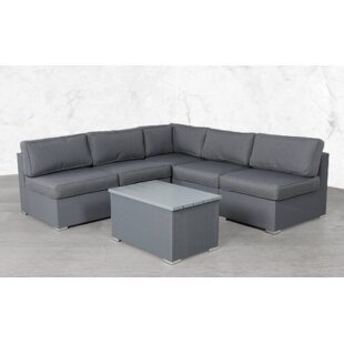 Fryer Modular 6 Piece Sectional Seating Group with Cushions