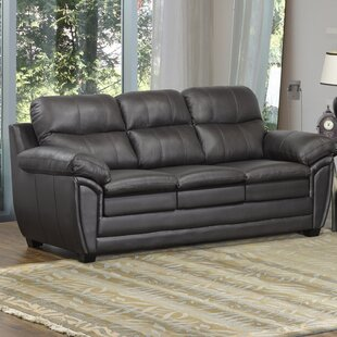 Read Reviews Coyle Leather Sofa by Orren Ellis Reviews (2019) & Buyer's Guide