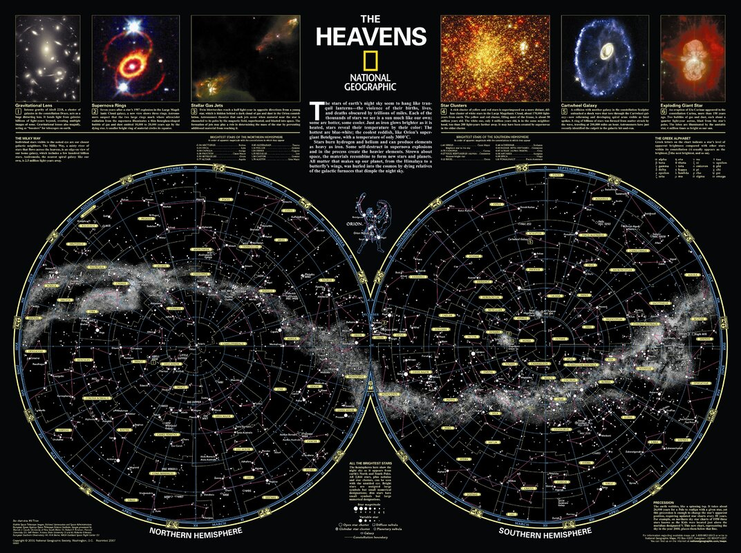 National Geographic Maps The Heavens Poster Map  Reviews Wayfair - Washington dc popout map