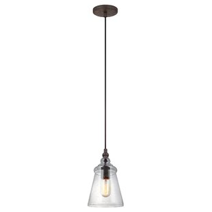 Gracie Oaks Sharwari 1-Light Bell Pendant