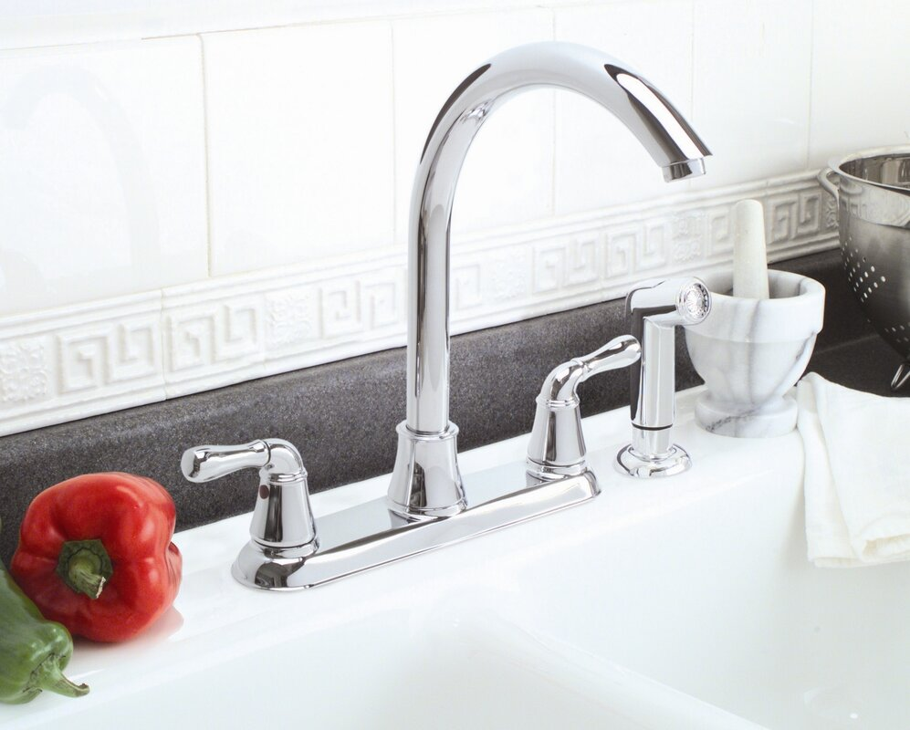 Sanibel Double Handle Kitchen Faucet with Side Spray