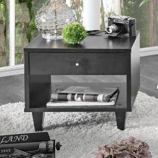 Fayetteville Wooden End Table with Storage