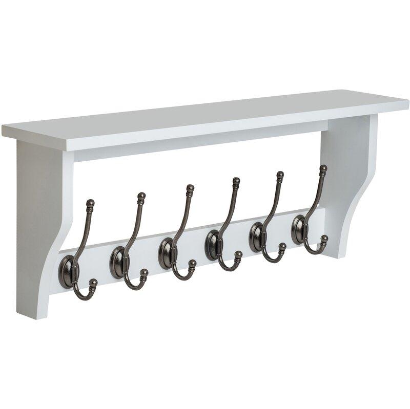 Ig Shelf With 6 Coat Hooks