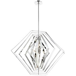 Lenna 10-Light Geometric Chandelier by Orren Ellis