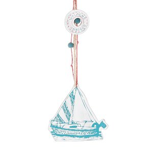 Sail Boat Hanging Figurine