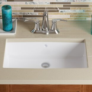 Look for Vitreous China Rectangular Undermount Bathroom Sink with Overflow By MR Direct