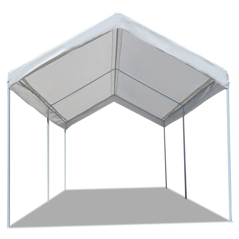 Setemi Car Shelter 20 Ft W X 10 Ft D Steel Party Tent Canopy Wayfair