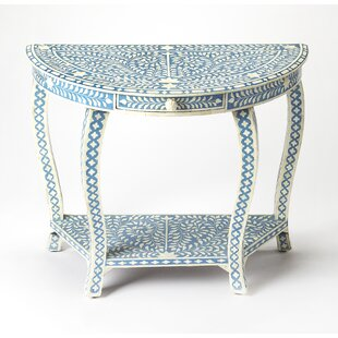 Bungalow Rose Elayna Demilune Console Table