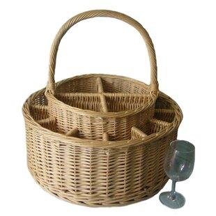 13 Piece Garden Party Basket & Wine Glass Set By Beachcrest Home