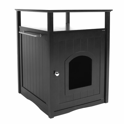 Adrianne Litter Box End Table Color: Black