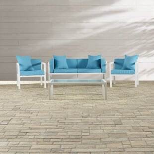 Mercury Row Arrandale 4 Piece Sofa Set with Cushions