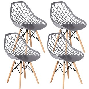 Rountree Windsor Back Side Chair in Gray Set of 4