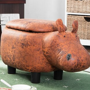 World Menagerie Renninger Hippo Storage Ottoman