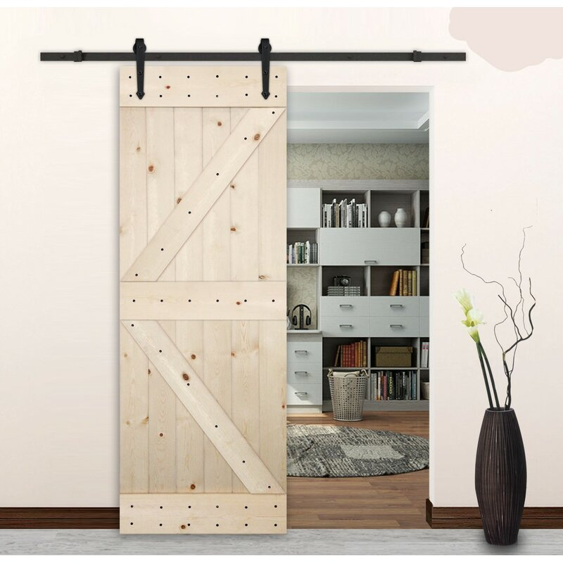 Lubann Arrow Style Sliding Track Kit Barn Door Hardware Reviews Wayfair