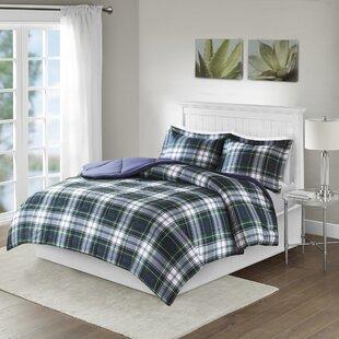 Andover Mills Rachal Navy & Plaid Comforter Set