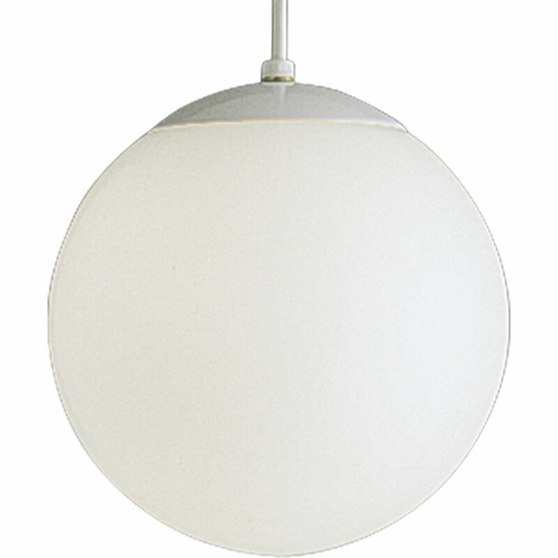 "Turn on the Brights  Bylar 1-Light Globe Pendant Size: 10"" H x 10"" W x 10"" D"
