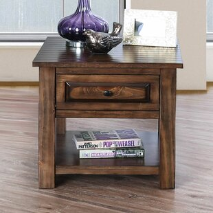 Bertha End Table with Storage by Loon Peak